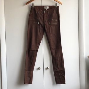 Paige Copper Skinny Jeans